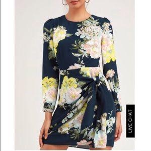 Lulus floral socialite dress NWT
